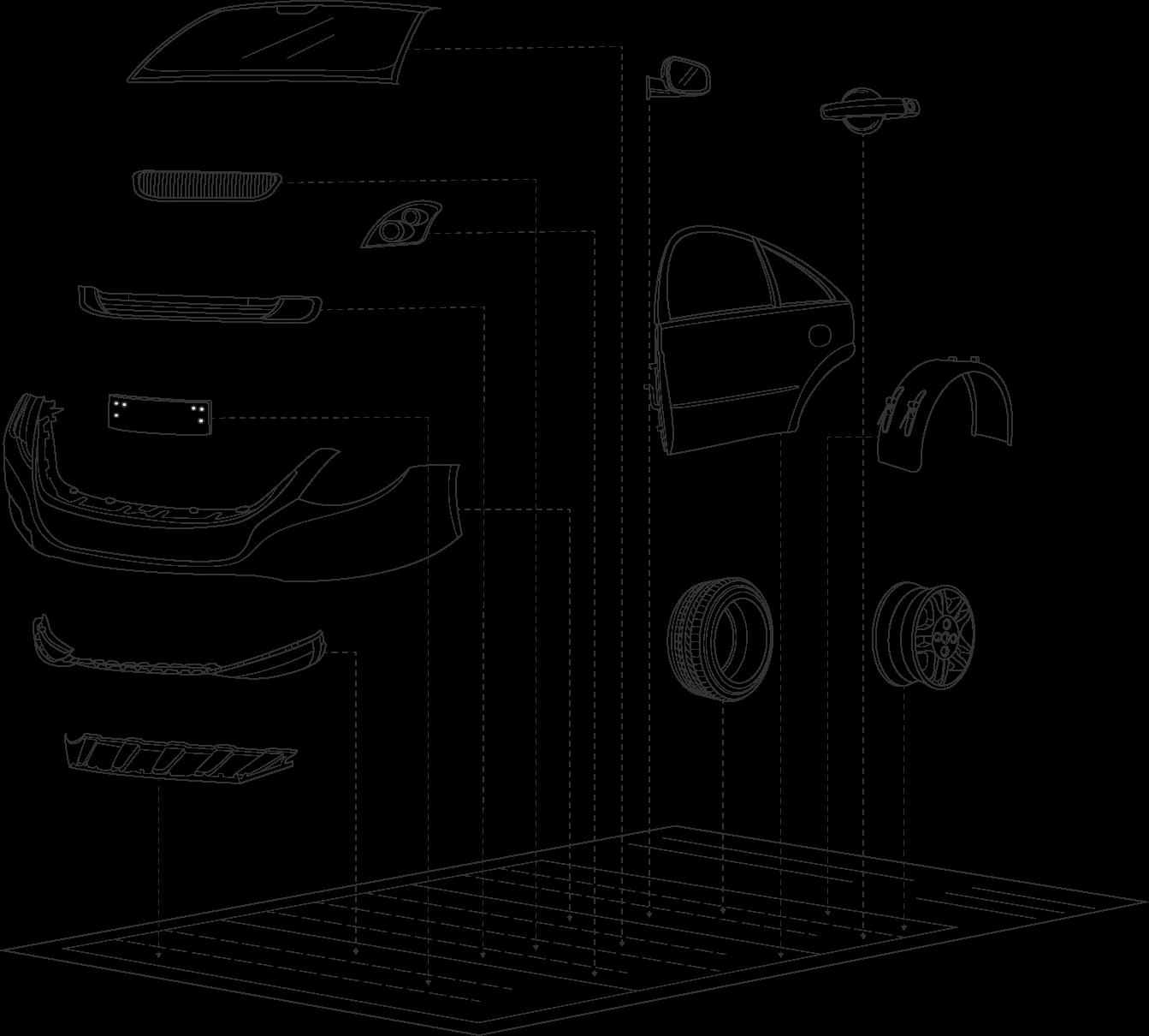 Autoteile - Illustration