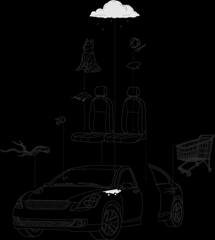 Typische Gebrauchsspuren und Schäden bei der Leasing-Rückgabe - Illustration