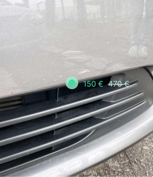 Schaden an Leasing-Fahrzeug - Front-Spoiler